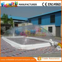 China Customized Size Tramsparent Inflatable Swimming Pool Cover for Pool wholesale