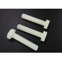 Wholesale M5 X 10 Plastic Nylon Hex Head Screws PA 66 UL 94V-2 Flat Point For Car Industry from china suppliers