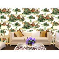 China Chinese Style Room Decoration Wallpaper Mountains And Rivers Wallpaper For Sofa/TV Background wholesale