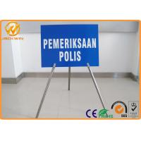 """Portable Foldable Traffic Warning Signs with Tripod Stand Galvanized Tube Diameter 1"""""""
