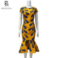 Ankara Fishtail African Print Dresses , Traditional African Women's Clothing