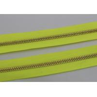 Wholesale 26 Inch Open Ended Long Chain Zipper Bright Tape Golden Metal Teeth For Bag And Garments from china suppliers