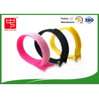 Wholesale Customize Pink Hook And Loop Cable Tie / Hook And Loop Fastener Straps 15*180mm from china suppliers