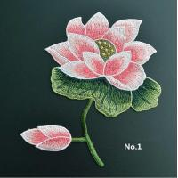 Wholesale Large Embroidered Flower Patches , Sew On Embroidered Appliques On Lace Fabric from china suppliers