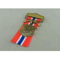 Wholesale Zinc Alloy Military Awards Medals , 3D Die Casting Short Ribbon Medallions from china suppliers