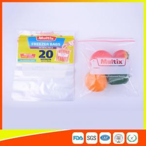 Biodegradable Freezer ZipLock Plastic Bags For Supermarket / Household