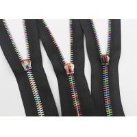 Wholesale Multi Color Rainbow Teeth Zipper , Corn Type Teeth Brass Zipper By The Yard from china suppliers