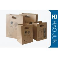 Wholesale Professional Kraft Paper Gift Bags With Handles , Matt Lamination from china suppliers