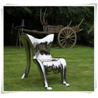 Wholesale Modern Polished Garden Chair Stainless Steel Furniture Sculpture from china suppliers
