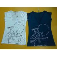 Wholesale Casual Womens Fashion Tops V Neck Short Sleeve T Shirt Ladiess Modal Tops from china suppliers