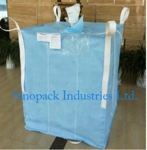 China 1000kg Anti static Industrial Bulk Bags CROHMIQ blue / white for storage chemical powder wholesale