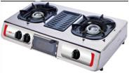 Gas stove with BBQ grill