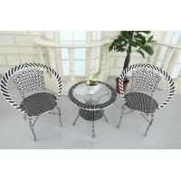 China Hot sale Terrace rattan dining table and chair balcony used garden furniture wholesale
