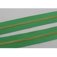 Wholesale Luggage / Handbags Long Chain Zipper 5# / 8# Gold Teeth 50m In One Roll Green Tape from china suppliers