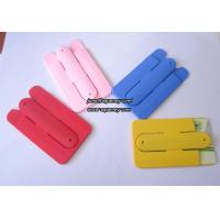 Custom logo 3M silicone smart wallet with phone stand with factory price