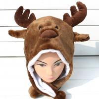 Custom Cartoon Elk Plush Hat