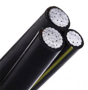 Low Voltage Aluminum Aerial Bundled Cable With Triple Cores 0.6/1kv Voltage