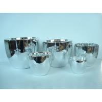 Wholesale Silver Electroplated Ceramic Flower Pots For Plants Indoor 15.1 X 15.1 X 14.5 Cm from china suppliers
