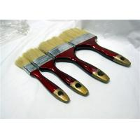 China Short Bristle Flat Paint Brush With Red & Golden Lacquered Wooden Handle wholesale