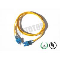 SC Connector Optical Patch Cord 2F ZIP 3.0mm OFNR CORNING SMF-28 ULTRA, Yellow Jacket