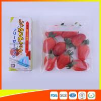 Wholesale Clear Plastic Freezer Zip Lock Bags With Writing Panel For Vegetable / Meat Storage from china suppliers