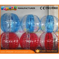China Human Sized Soccer Bubble Ball Inflatable Zorb Ball Heat Sealed 1 Year Warranty wholesale