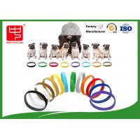 Wholesale Puppy Id Collars Thin Hook And Loop hook and loop Straps For Dog Pet , Color Distinguish from china suppliers