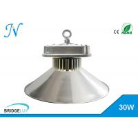 China Silver 30W Dimmable Led High Bay Lights With Bridgelux Chip / Aluminum Housing wholesale