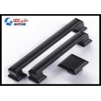 Wholesale 128mm American Stylish Plating Kitchen Cabinet Handles 96mm Black Arched Dresser Pulls Square Knobs from china suppliers