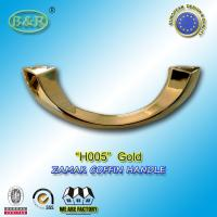 Wholesale H005 gold & Silver color Italy design moon shape metal coffin handle zamak coffin accessories  size 20.5*7.5cm from china suppliers