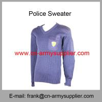 Wholesale Cheap China Army Navy Blue Wool Military Police Sweater