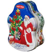 China Santa Claus Metal Tin Container For Christmas Holidays , Custom Box wholesale