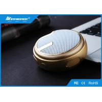 Gold Mini Portable Bluetooth Speakers Player For Travel , ABS Plastic Materials