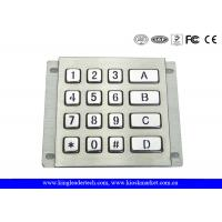 China Rugged Waterproof Vandalproof Backlit Metal Keypad Stainless Steel Keypad wholesale