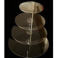 China 4 Tiers Simple Grocery Acrylic Countertop Display Stands For Bakeware / Cake wholesale