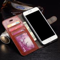 Wallet Stand Leather Protective Case , Anti - Dirt Iphone 7 Plus Leather Wallet Case