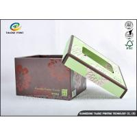 Wholesale Brown Foldable Cardboard Gift Boxes With Lids Matt Varnish Surface Finishing from china suppliers