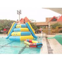 0.9mm Pvc Inflatable Water Parks Tarpaulin Outdoor  Jumping Tower with 2 Slides