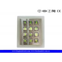 China Weatherproof Green Backlit Metal Keypad For Low - Lit Environment wholesale