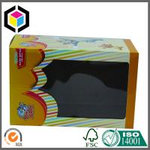 Plastic Window Cute Toy Corrugated Box; Custom Color Corrugated Packaging Box