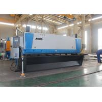 Automated Guillotine Sheet Metal Cutter , Guillotine Steel Cutter With Front Support Arms