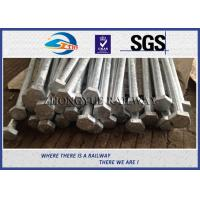 Wholesale GB Standard 8.8 Grade Railway HEX Bolt  24x3x1100mm with nuts and washers from china suppliers