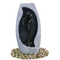 Handmade Fiberglass Resin Large Outdoor Water Fountains With Lights , 53x21x107cm