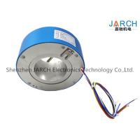 380V 4 ~ 72 Conductors 90mm Through Bore High Voltage Slip Rings For Wrapping Machinery Max Speed:500RPM