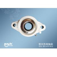White Plastic Pillow Block Bearings For Auto / Motorcycle / Bicycle SUCFLPL207