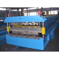 China Galvanized Steel Double Deck Roll Forming Machine For Wall Panel 0.3-0.8mm wholesale