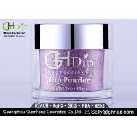 Wholesale Odorless Non Toxic Acrylic Nail Powder Gel Nail Polish Purple Color from china suppliers