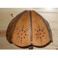 Wholesale Light brown faux leather drum lamp shade from china suppliers