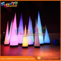 China 3m Height Oxford Inflatable LED Lighting Cone For Event / Party Decoration wholesale