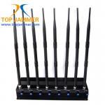 8 Antennas Power Adjust 20w High Power Jammer Block GSM 3G 4G LTE Wifi GPS Lojack VHF UHF